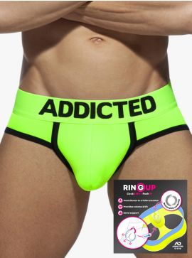 Addicted Neon Cockring Swimderwear Brief