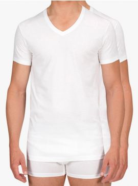 Alan Red 2-pack T-shirts Dean Slim Fit Deep V-Neck