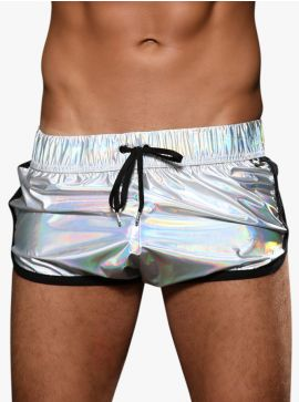 Andrew Christian Holographic Jogger Shorts